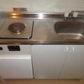 キッチン・写真は411号室のものとなります。