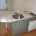 キッチン・写真はD-1号室のものとなります。
