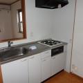 キッチン・写真はA号室のものとなります。