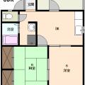 間取りは101・201号室です。106・206号室は反転となります。